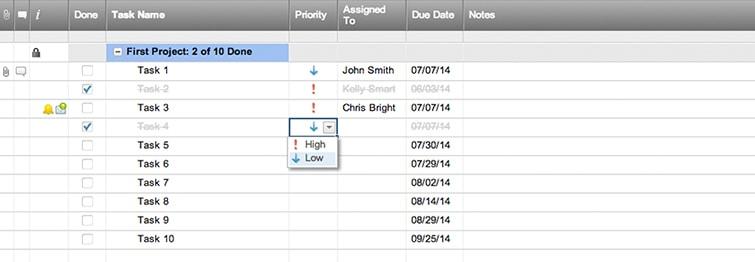シンプルなプロジェクトのタスク リスト テンプレート smartsheet