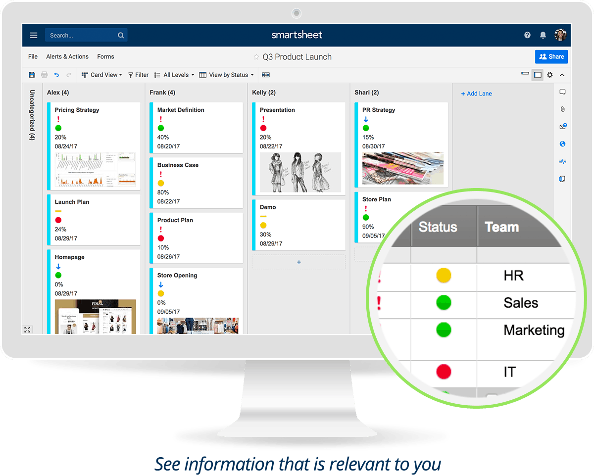Smartsheet product screenshot