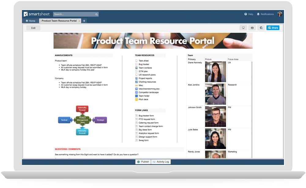 Product Team Portal